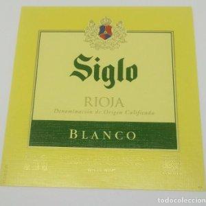 Siglo. Rioja blanco. Bodegas Age. Fuenmayor. Etiqueta impecable