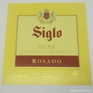 Siglo. Rioja rosado. Bodegas Age. Fuenmayor. Etiqueta impecable