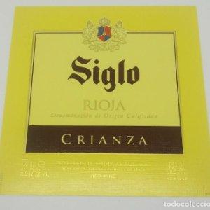 Siglo. Rioja Crianza. Bodegas Age. Fuenmayor. Etiqueta impecable