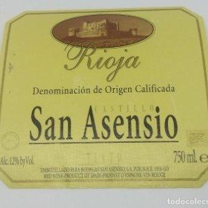 Castillo San Asensio. Rioja. Bodegas San Asensio. 9x8,5cm