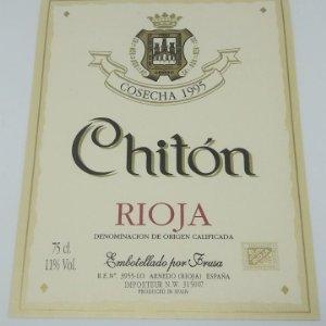Chiton. Rioja. Cosecha 1995 Frusa. Arnedo. La rioja.. Etiqueta 13x9cm