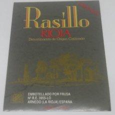 Etiquetas antiguas: RASILLO. RIOJA. CRIANZA. FRUSA. ARNEDO. LA RIOJA.. ETIQUETA 13X9CM. Lote 160480730