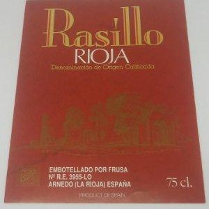 Rasillo. Rioja. Frusa. Arnedo. La rioja.. Etiqueta 13x9cm