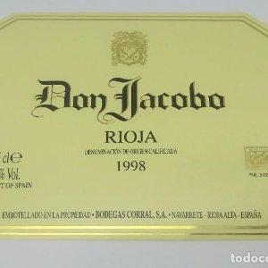 Don Jacobo. Rioja crianza 1998. Bodegas Corral. Navarrete Rioja Alta. Excelente estado