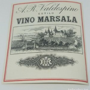 A.R.Valdespino estilo vino Marsala. Etiqueta de muestra. Excelente