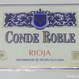 Conde Roble. Rioja. Nunca pegada en botella. Impecable estado