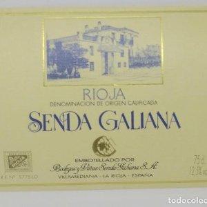 Senda Galiana. Villamediana. La Rioja. Nunca pegada en botella