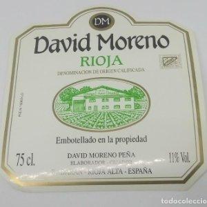 David Moreno Peña. Badaran. Rioja Alta. Nunca pegada en botella