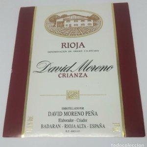 David Moreno Peña. Crianza. Badaran. Rioja Alta. Nunca pegada en botella