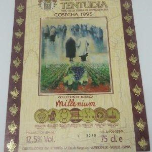 Monasterio de Tentudia. Cosecha 1995. Millenium. Viña Extremeña. Almendralejo. Badajoz.