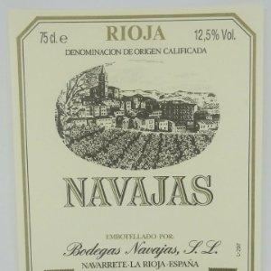 Navajas. Bodegas Navajas. Navarrete. La Rioja. Excelente estado