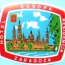 Etiquetas antiguas: ETIQUETA HOTEL EUROPA RESIDENCIA. ZARAGOZA.. Lote 161345706
