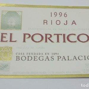 El Portico 1996 Rioja. Bodegas Palacios. La Guardia. Alava. Etiqueta impecable