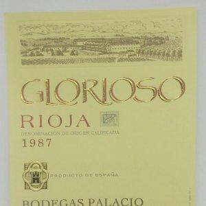 Glorioso. Rioja. 1987 Bodegas Palacios. La Guardia. Alava. Etiqueta impecable