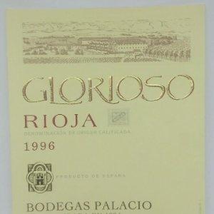 Glorioso. Rioja. 1996 Bodegas Palacios. La Guardia. Alava. Etiqueta impecable