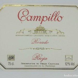 Campillo rosado. Bodegas Campillo. La Guardia. Rioja alavesa. Etiqueta impecable