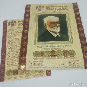 Monasterio de Tentudia. Cosecha 1992 Miguel de Unamuno y Jugo Viña Extremeña. Almendralejo. Badajoz.
