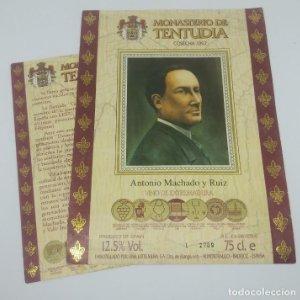 Monasterio de Tentudia. Cosecha 1992 Antonio Machado y Ruiz. Viña Extremeña. Almendralejo. Badajoz.