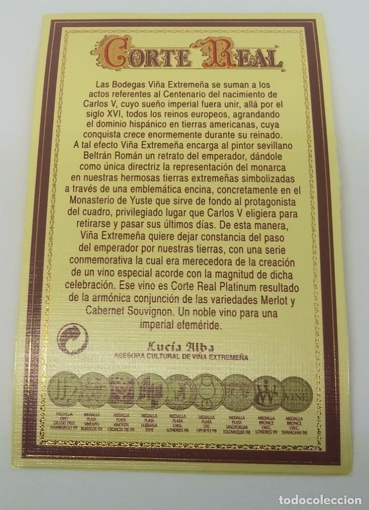 Corte Real Platinium 1997 Cabernet Sauvignon y Merlot. Viña Extremeña. Almendralejo. Badajoz - 161930774