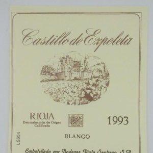 Castillo de Ezpeleta. Rioja 1993 Etiqueta impecable