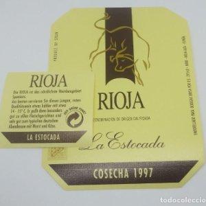 La estocada. Rioja. Cosecha 1997 Etiquetas impecables