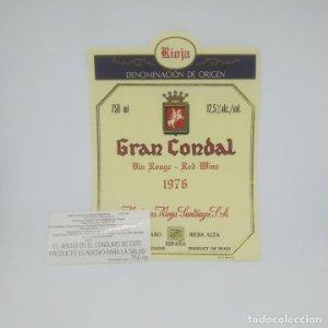 Gran Condal. 1976 Bodegas Rioja Santiago. Haro. Rioja alta. impecable