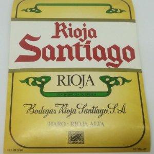 Rioja Santiago. Bodegas Rioja Santiago. Haro. Rioja alta. Etiqueta original