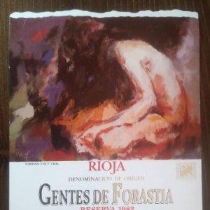 Sobrino Vid y vida. Reserva 1982 Gentes de forastia Rioja. Bodegas Navajas. Nunca pegada en botella