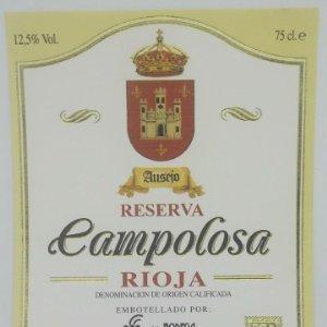 Campolosa. Ausejo. Reserva. La Rioja. Bodega San Miguel. Etiqueta impecable 12x10cm