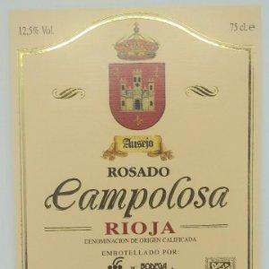 Campolosa. Ausejo. Rosado. Rioja. Bodega San Miguel. Ausejo. La Rioja. Etiqueta impecable 12x10cm