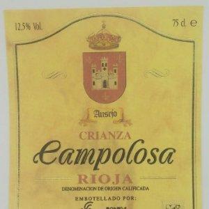 Campolosa crianza. Ausejo. Rioja. Bodega San Miguel. Ausejo. La Rioja. Etiqueta impecable 12x10cm