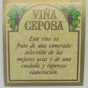 Viña Ceposa. Etiqueta impecable 6,5x6cm