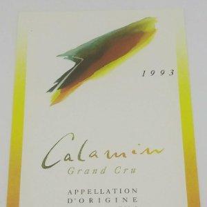 Calamin Grand Gru 1993 Ponnaz & fils vignerons encaveurs à cully. Etiqueta impecable 9,8x6,8cm