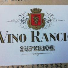 Etiquetas antiguas: ETIQUETA VINO RANCIO, SIN USAR. Lote 162354064