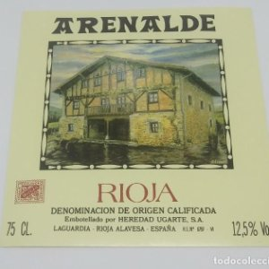 Arenalde. Rioja. Heredad Ugarte. Laguardia. Rioja Alavesa. Etiqueta impecable