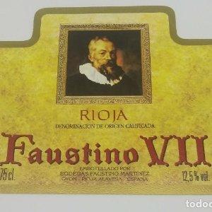 Faustino VII. Bodegas Faustino Martinez. Oyon. Rioja Alavesa. Etiqueta de muestra. Impecable
