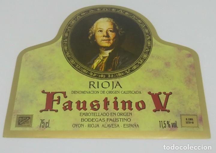Faustino V. Rioja. Bodegas Faustino Martinez. Oyon. Rioja Alavesa. Etiqueta impecable