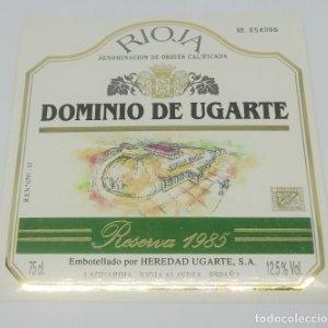 Dominio de Ugarte. Rioja. Reserva 1985. Heredio Ugarte. Laguardia. Rioja Alavesa. Etiqueta impecable