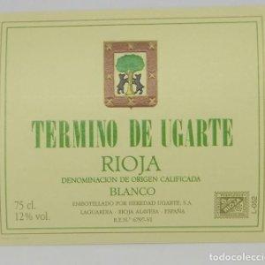 Termino de Ugarte. Rioja blanco. Heredio Ugarte. Laguardia. Rioja Alavesa. Etiqueta impecable