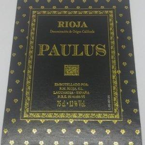 Paulus. Rioja. R. M. Rioja, S.L. Laguardia. Etiqueta en muy buen estado