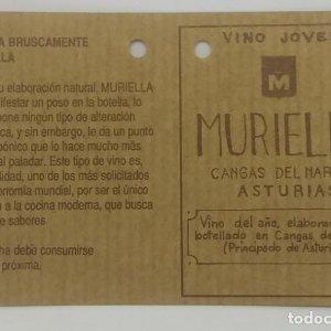 Muriella. Cangas de Narcea. Asturias. Etiqueta impecable