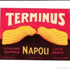 Etiquetas antiguas: ETIQUETA HOTEL TERMINUS EN NAPOLI ITALIA . Lote 162511474