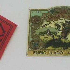 Licor Sant Jordi. Enric Lladó. Arenys de Munt. Lote de 2 etiquetas pequeñas