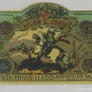 Licor Sant Jordi. Destillerias Lladó 8,7x7,8cm