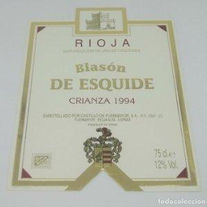 Blasón de Esquide. Crianza 1994 Castillo de Fuenmayor. Rioja Alta.. Etiqueta impecable 13x10cm