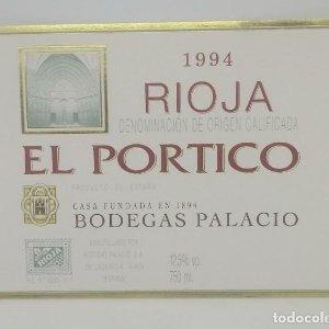 El Portico 1994 Rioja. Bodegas Palacios. La Guardia. Alava. Etiqueta impecable 13x9,7cm