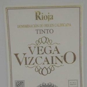 Vega Vizcaino. Rioja tinto. Navarrete. La Rioja. Etiqueta impecable 13x9,7cm