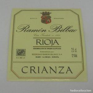 Ramón Bilbao. Haro. La rioja. Etiqueta impecable 7,4x6,6cm
