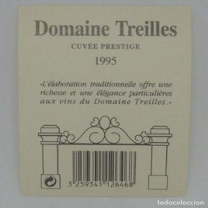 Domaine Treilles. Cuvée prestige 1995 Etiqueta impecable 8x7cm