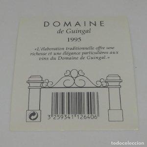 Domaine de Guingal 1995 Etiqueta impecable 8x7cm